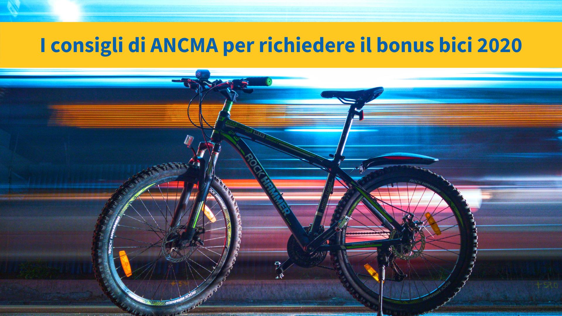 Come richiedere il bonus bici 2020: i consigli di ANCMA
