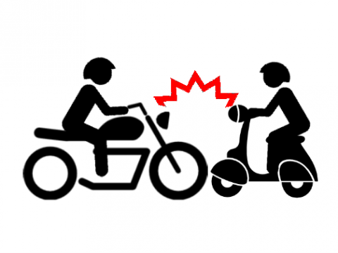 scontro motorino