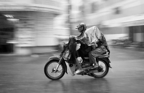 moto pioggia