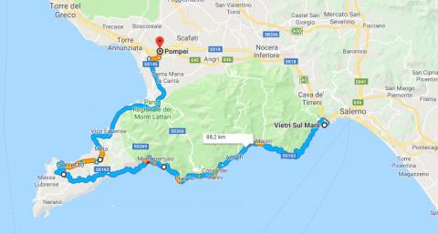 Cartina Costiera Amalfitana E Capri.Le Strade Piu Belle Da Percorrere In Moto In Campania