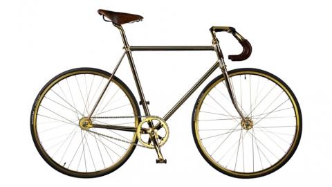 bicicletta oro 24 carati