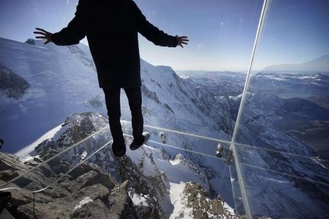 """A Chamonix """"un passo nel vuoto"""" a 4000 mt"""